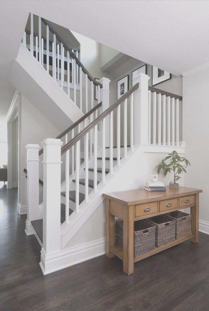 escalier marches et rampes peints